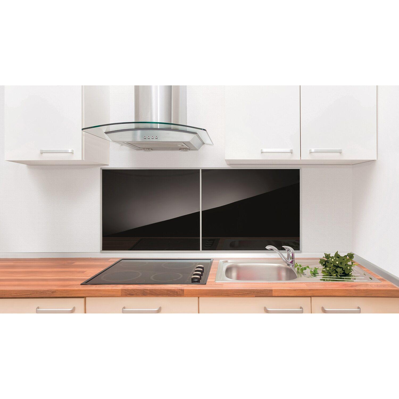 Üveg konyhai hátfal, 60 cm x 50 cm, fekete vásárolni - OBI