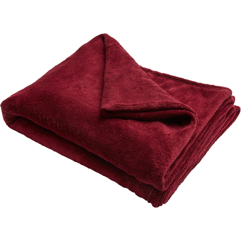 Mikroszálas pléd piros 150 cm x 200 cm vásárolni - OBI 598014ce8a