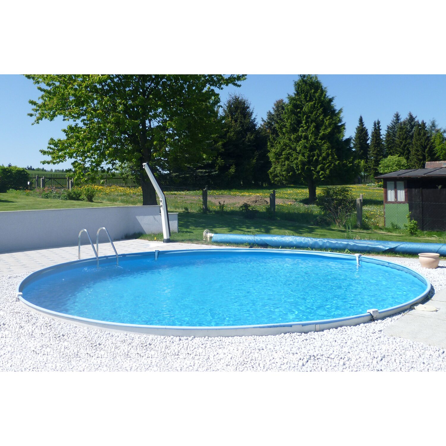 Medence szett summer fun baja ac lfal be p thet for Stahlwandbecken pool einbau