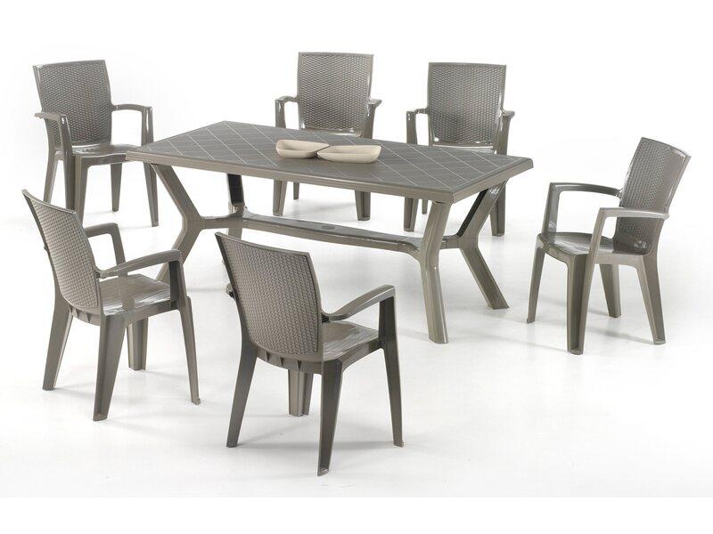Kerti szék Giava műanyag szürke
