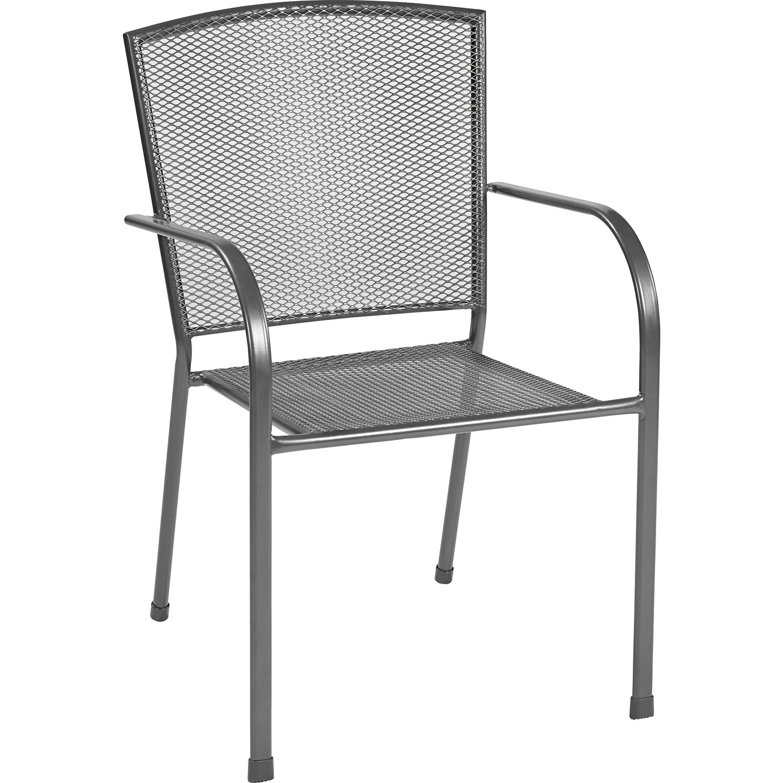 Húzott fém egymásra rakható szék antracit