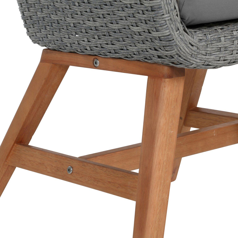 Greemotion Madeira design kerti szék polirattan szürke