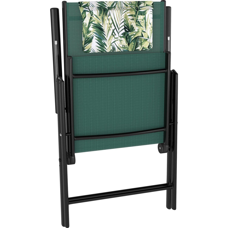Travessa kerti bútorgarnitúra 8 részes alumínium zöld