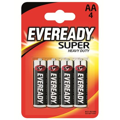 Eveready Heavy Duty szén-cink AA ceruzaelem, 4 db