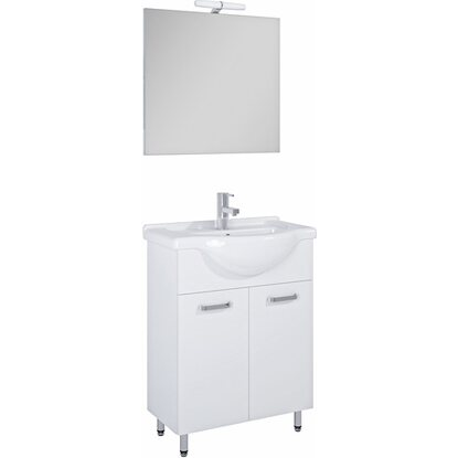 Fürdőszobabútor-készlet EEC: A+ Eve fehér fényes 3 részes ...