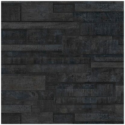 Munkalap 60 cm x 3,9 cm Black Tiles (D2105 FB)