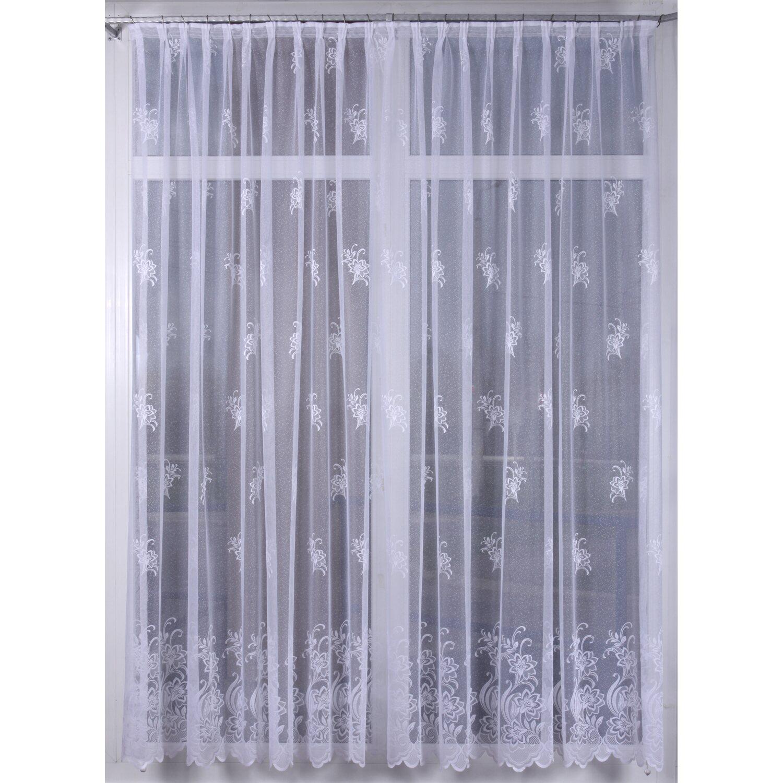 ... függöny obi Rovitex függöny jaquard virágmintás fehér 150 cm magas  méterárú függöny obi 30b942f245