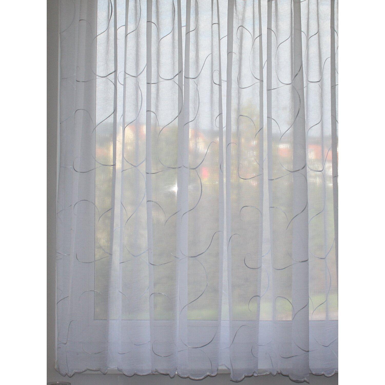 függöny obi Rovitex függöny voile fényáteresztő gyűrt hímzett fehér 275 cm  függöny obi függöny obi FÜGGÖNY 250X300CM 100% POLIÉSZTER ... c02eb50bdc