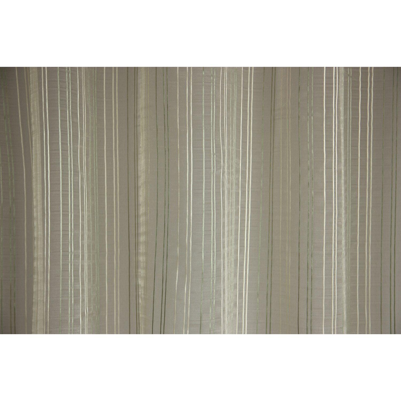 Függöny organza csíkos zöld ERIKA 05 290 cm magas méteráru vásárolni ... 3ed2441e42