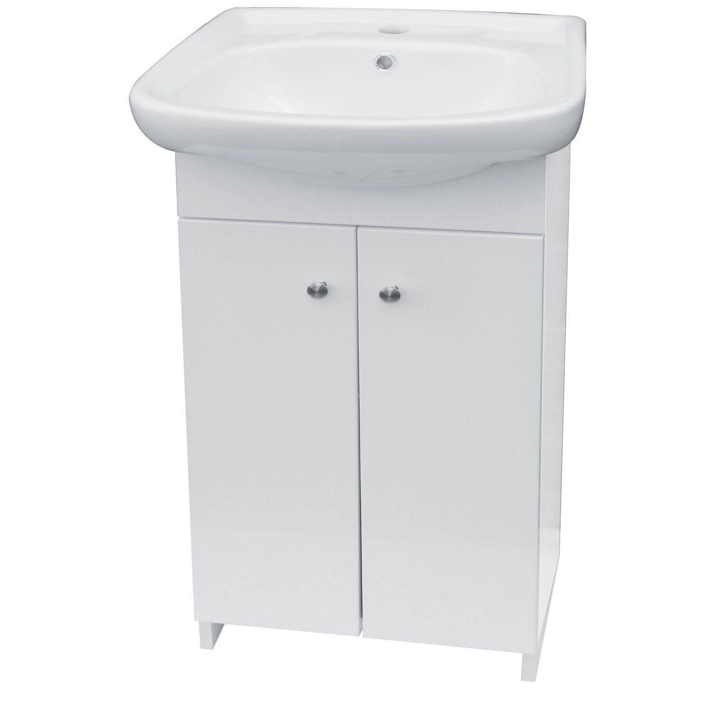 Fürdőszoba alsószekrény mosdóval fehér vásárolni - OBI