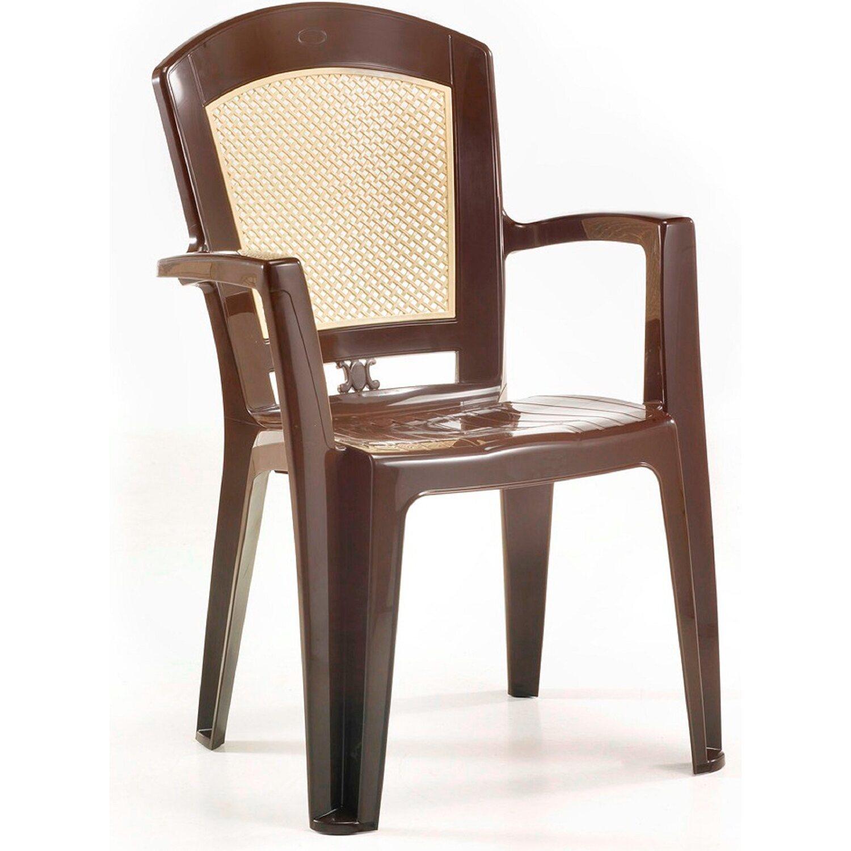 Kerti szék Venus műanyag mokka