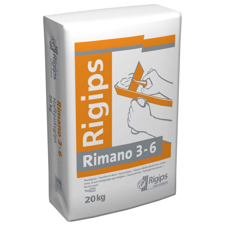 25 kg Rigips Rimano 6 30 gipszes vastagvakolat és glett Törtfehér