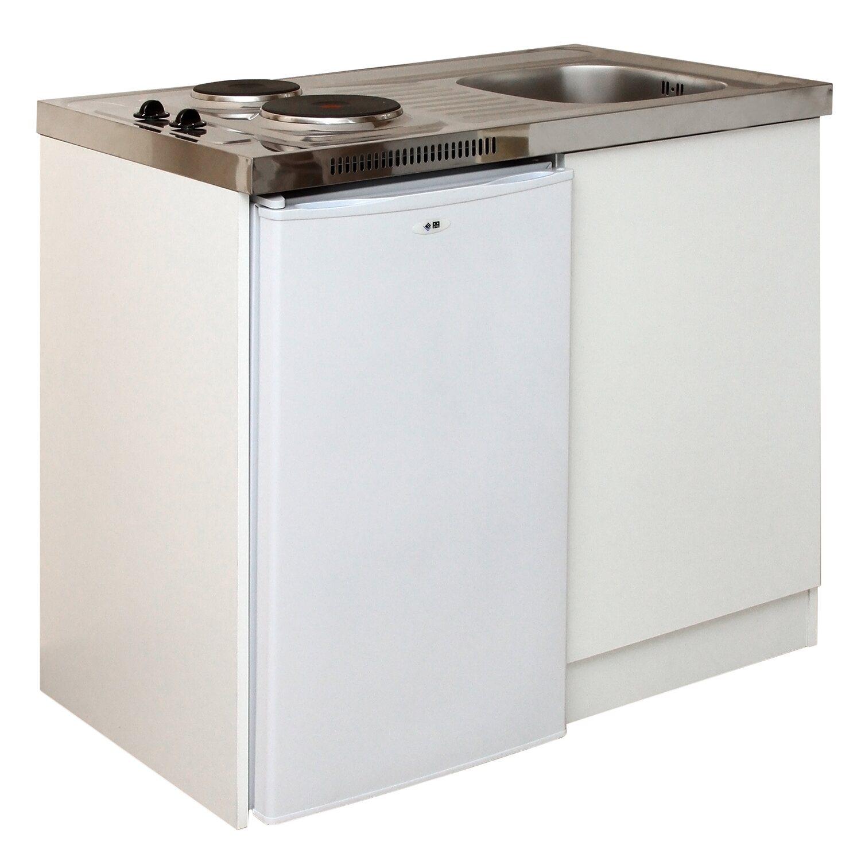 Minikonyha hűtővel elektromos főzőlappal és mosogatóval vásárolni ...