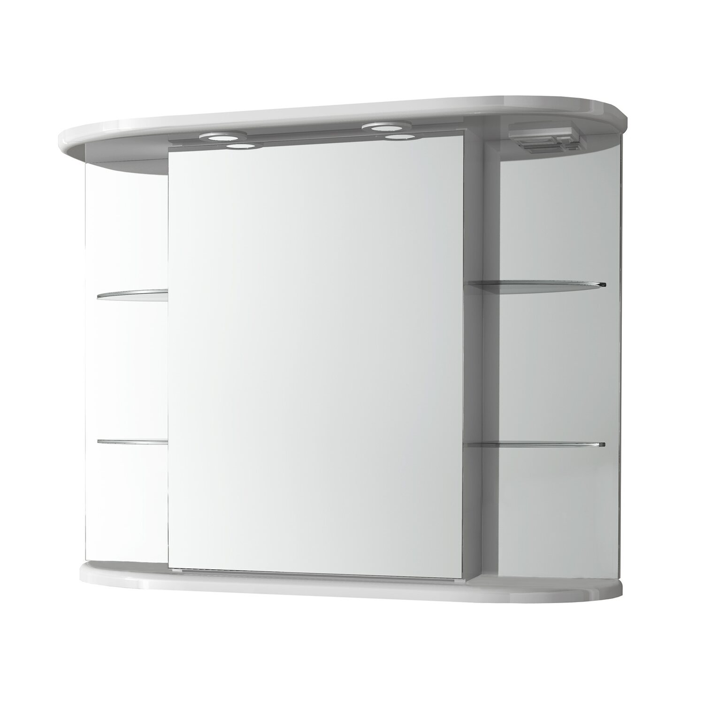 Tükrös szekrény Alba, fényes fehér, A+ 655 mm x 880 mm x 270 mm ...
