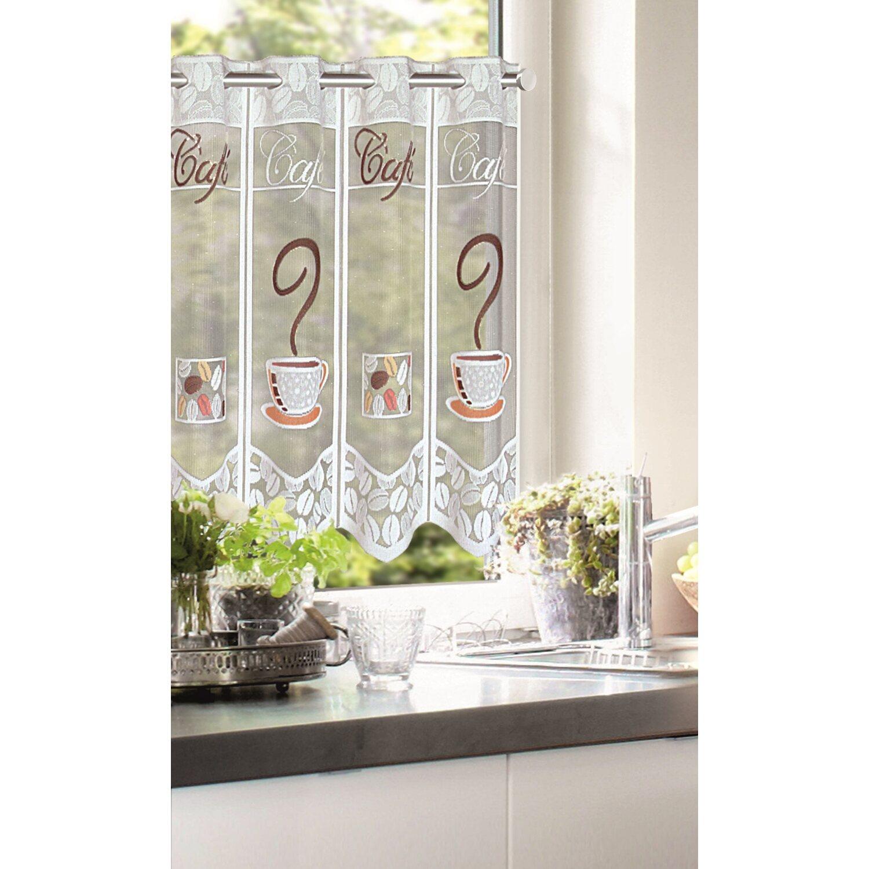 Függöny jacquard vitrázs kávéscsésze mintával 45 cm magas méteráru ... b7eb232f16