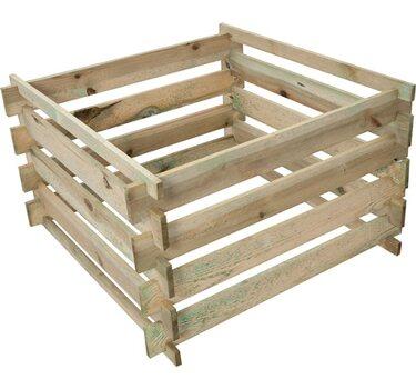Komposztáló impregnált fa 100 cm x 100 cm x 60 cm az OBI-tól