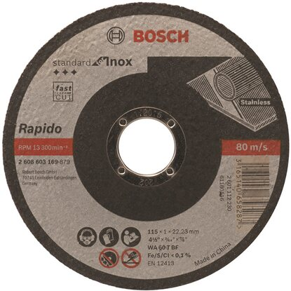 BOSCH Darabolótárcsa Inox AS46TINOXBF 115 mm