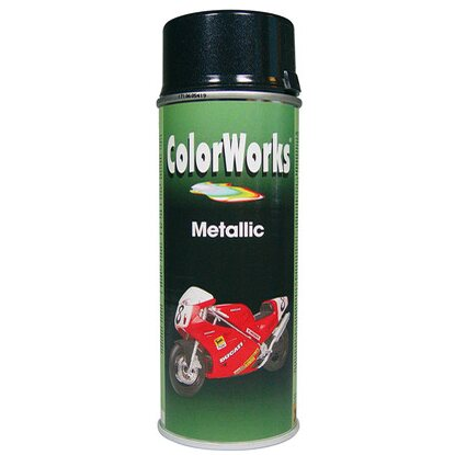 Color Works festékspray akril metálfekete 400 ml