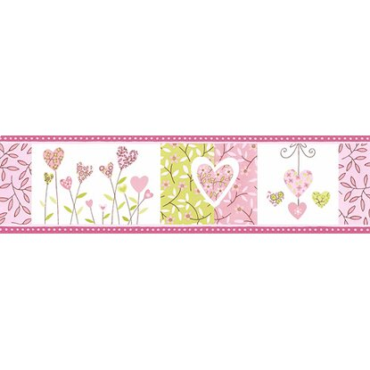 Bordűr 6917-29 szíves zöld-rózsaszín vásárolni - OBI 813219a530