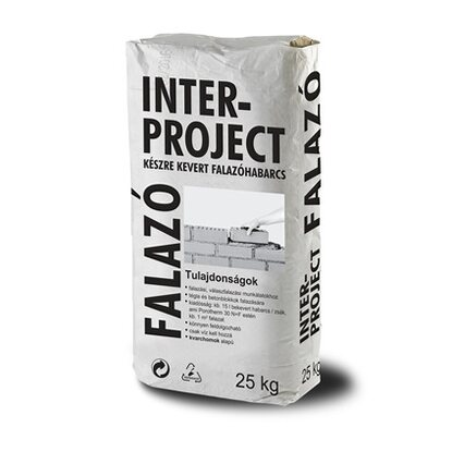Falazóhabarcs Interproject 25 kg