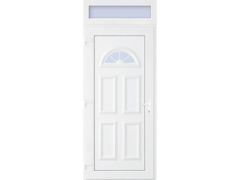 Acél bejárati ajtó felülvilágítóval
