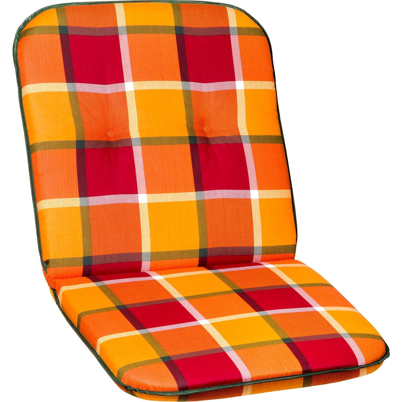 Borkum párna alacsonytámlás székhez sárga-narancssárga kockás ... ee925e653f