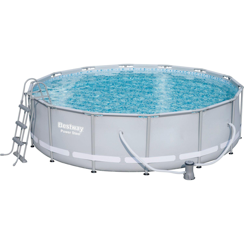 F mv zas medence szett steel pro frame pool v s rolni obi for Frame pool obi
